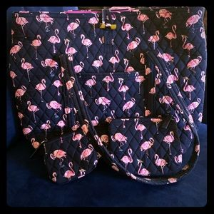 Vera Bradley Flamingo Fiesta Travel Bundle